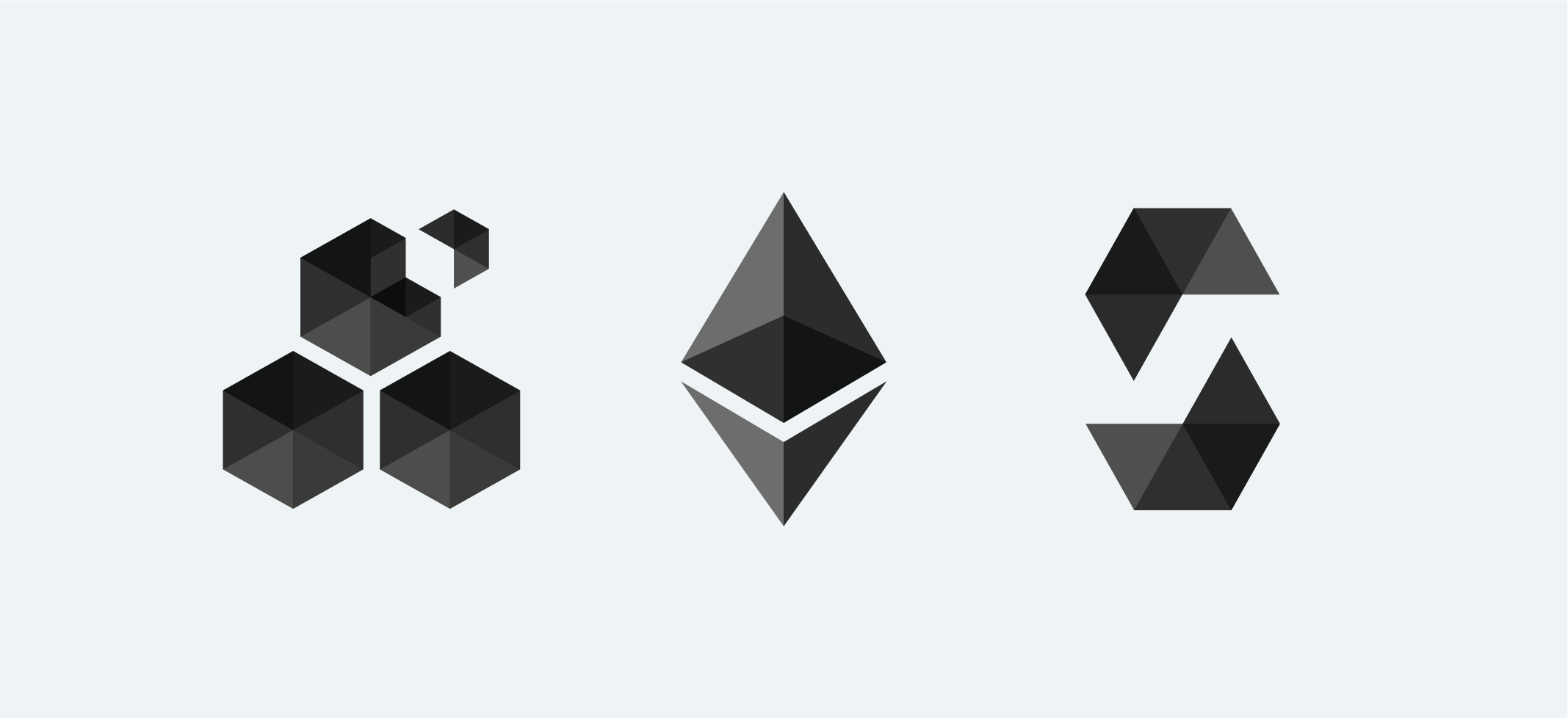 Ethereum's existing logo along with Swarm, and Solidity